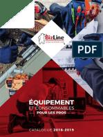 Catalogue Bizline - Équipement Et Consommables - 2018