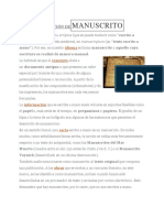 manuscrito definicion