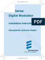 Eberspacher 80110003 Controller Installation Instruction Manual