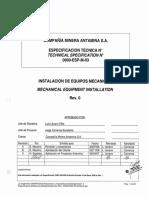0000-Esp-m-03 Rev0 _ Instalacion de Equipos Mecanicos