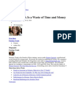 Why MBA is West of Time and Money