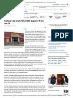 Railways to Start Panj Takht Express From Jan 14 - The Economic Times