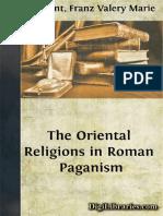 The oriental religios in roman paganism