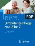 Martina Döbele, Ute Becker Eds. Ambulante Pflege Von a Bis Z