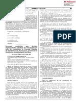 Revocan resolución que declaró improcedente solicitud de inscripción de lista de candidatos al Concejo Distrital de San Pedro de Huancayre provincia de Huarochirí departamento de Lima