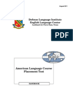 Defense Language Institute English Language Center Lackland Air Force Base, Texas