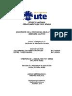 Aplicación de La Psicologia Educativa El Ambiente Aulitico 2