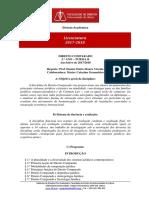 Programa Direito Comparado 2017-2018