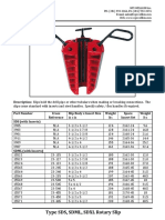 Type SDS SDML SDXL Rotary Slip Cut Sheet