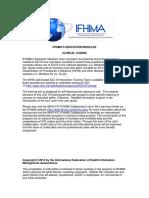 Ifhima Education Modules Clinical Coding