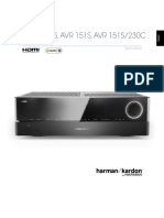 Manual Harman Kardon Avr 1510s Home Theater