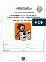 PRUEBA 2°Secundaria -Comunicación
