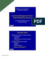 Stock Pitch Primer (Nov 2007)