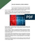 La Importancia de Conocer El Ritmo Cardíaco