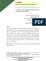 A MODELAGEM MATEMÁTICA COMO METODOLOGIA PARA O ENSINO- APRENDIZAGEM DE FÍSICA