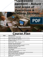Operations Management - Nature & Scope of Operations & Operations Strategy, 2010, SIMSR