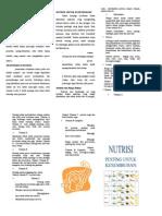 Leaflet Nutrisi