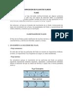 clasificacion de los fluidos