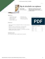 ▷ Dip de alcachofa con espinaca - Kiwilimón®