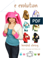 Eevee Evolution Hooded Shrug Sewing Pattern