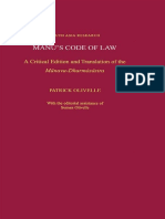 Manus Code of Law a Critical Edition and Translation