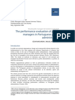 The performance evaluation of public managers in Portuguese public administration