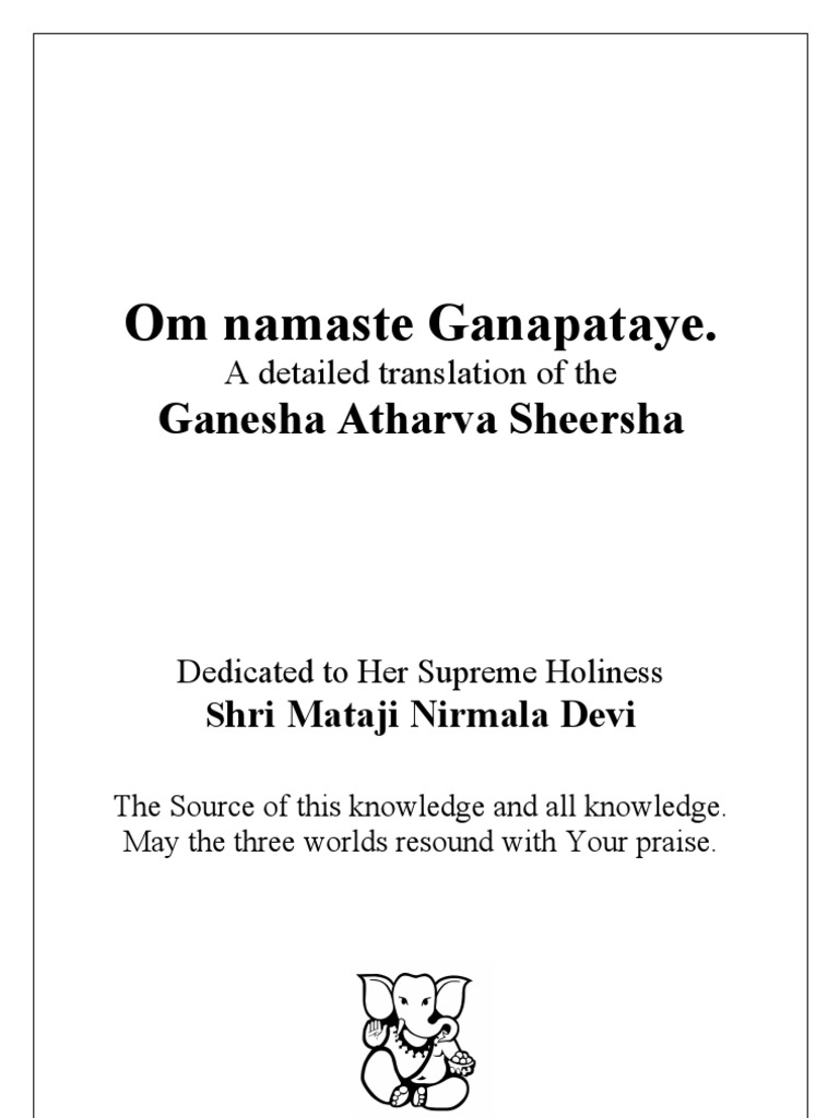 Ganesha Atharva Sheersha   Shiva   Brahman