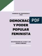 Democracia y Poder Popular Feminista _Recuperación de la vida y los bienes comunes - Resumen Tesis