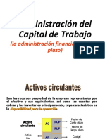 Administración capital de Trabajo