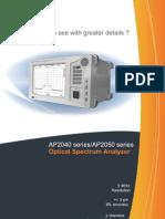 High resolution optical spectrum analyzer AP2050