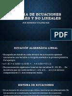 2. Sistema de Ecuaciones Lineales y No Lineales