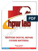 Western Digital HDD repair course
