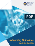 E-Learning Guidelines for Malaysian HEIs