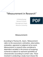 Measurement in Research