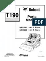 Bobcat T190 Compact Track Loader Parts Catalogue Manual SN 5278 11001 & Above.pdf
