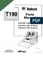 Bobcat T190 Compact Track Loader Parts Catalogue Manual SN 5270 11001 & Above.pdf