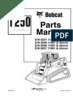 Bobcat T250 Compact Track Loader Parts Catalogue Manual SN 5231 11001 & Above.pdf