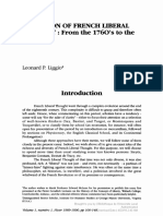 """Liggio, L. P. 1990. """"Evolution of French Liberal Thought"""