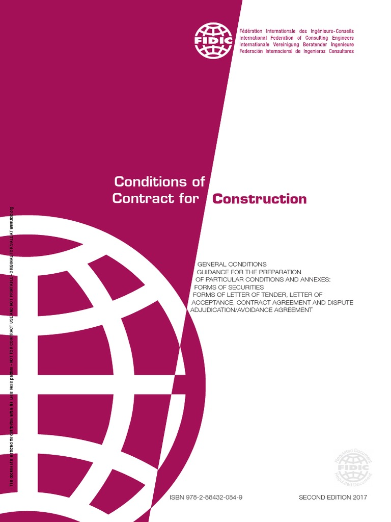 fidic conditions of contract for construction 1999 free download