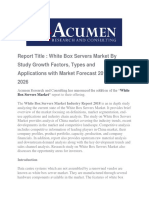 White Box Servers Market by Acumen Research and Consulting