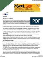 Programa « PSOL