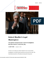 Robert Mueller's Legal Masterpiece the New Republic