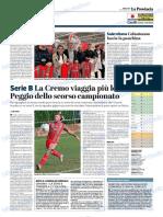 La Provincia Di Cremona 19-12-2018 - Serie B
