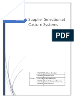 Group 8-Asignment-1 Supplier Selection at Casturn Systems
