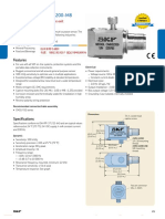 Accelerometer - SKF CMSS 2200 Data sheet of curve