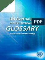English Azerbaijani Glossary of Frequently Used Terminology