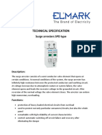 Technical Specification- Surge Arresters SPD Type