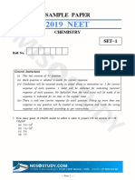 NEET 2019 Chemistry Sample Question Paper i
