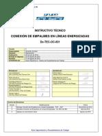 CONEXIÓN DE EMPALMES EN LÍNEAS ENERGIZADAS