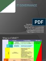 CMMi e IT Governance
